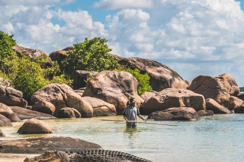 Swimming with the crocs in East Arnhem Land